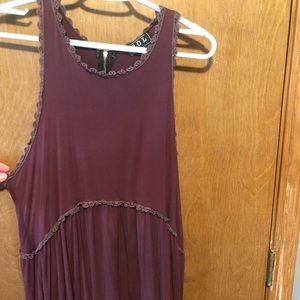 Long maroon blouse/tank top from Altar'd State